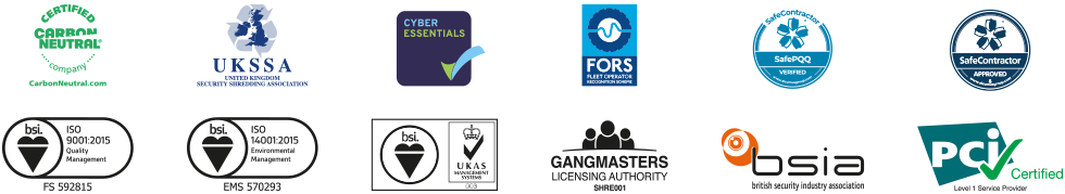 Logos of accreditations